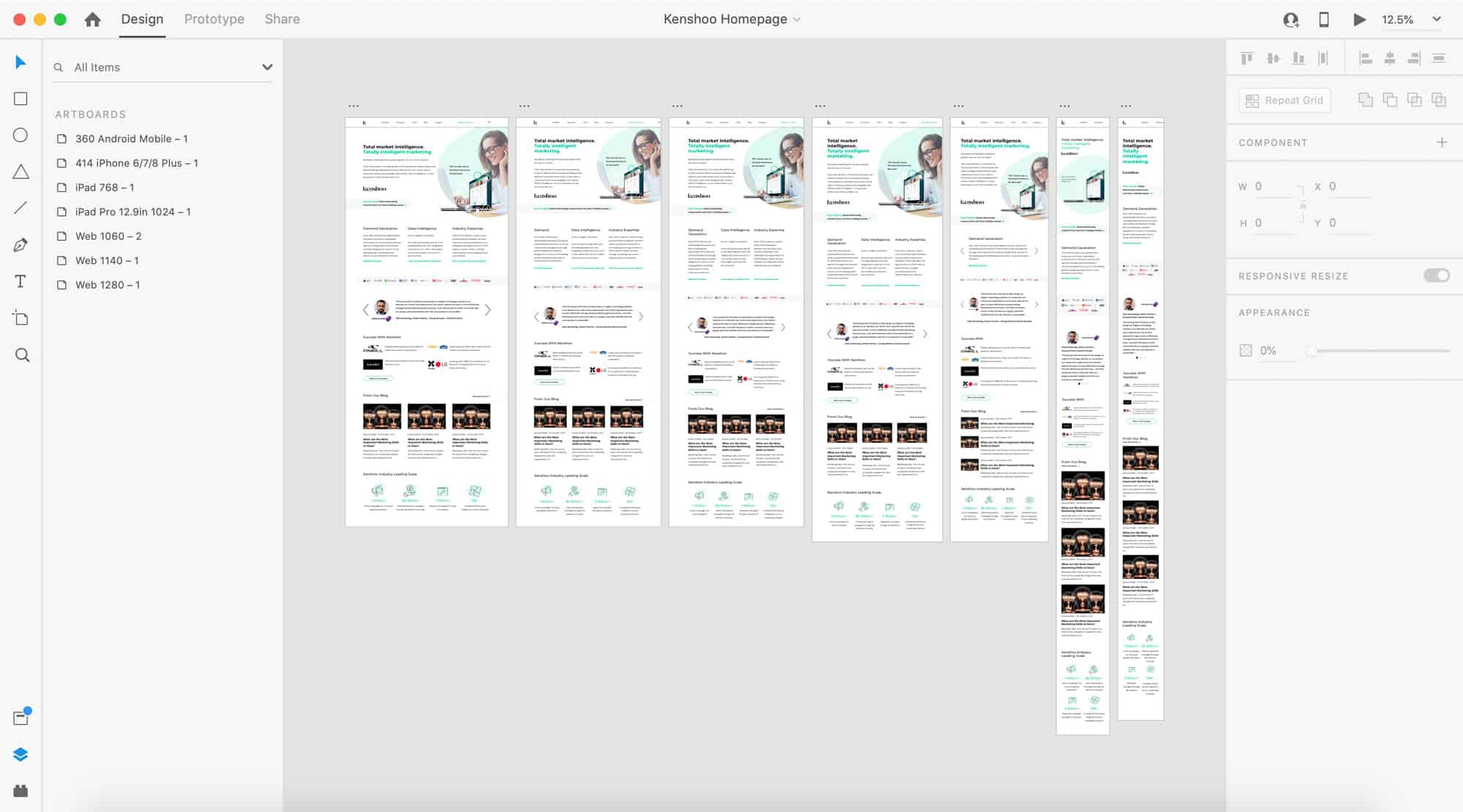 Kenshoo in Adobe XD